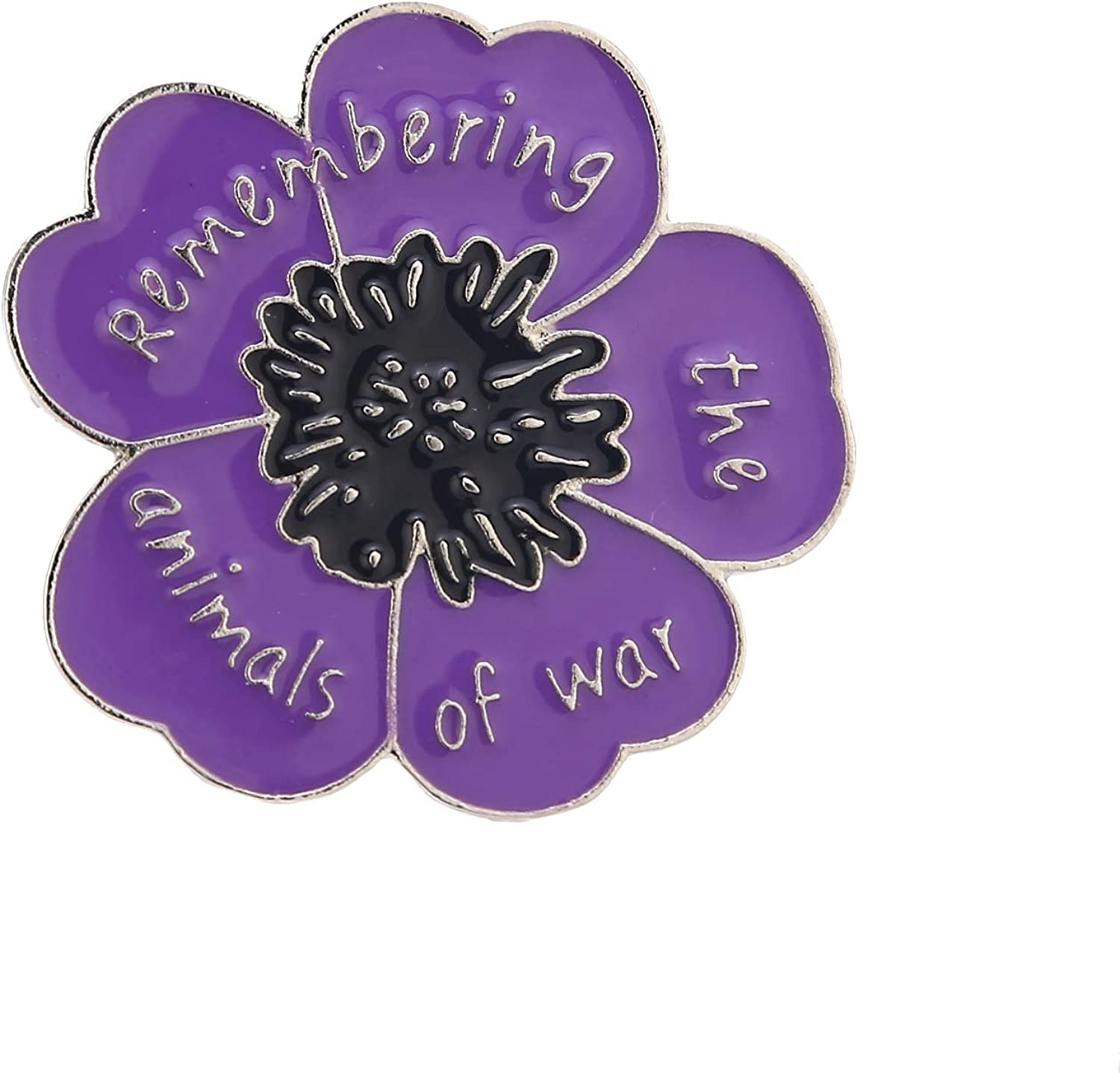 Red Purple Women's Poppy Brooches veterans day Memorial day Poppy Pins Enamel Lest we forget