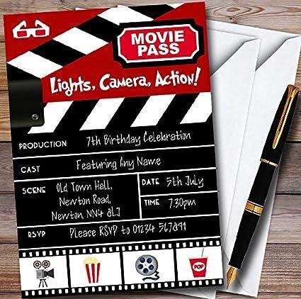 Amazon Com 10 X Movie Night Theatre Film Cinema Personalized