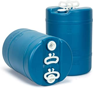 product image for 15 Gallon Emergency Water Storage Barrel - 2 Tanks - Preparedness Supply - Water Tank Drum Container - Portable, Reusable, BPA Free, Food Grade Plastic