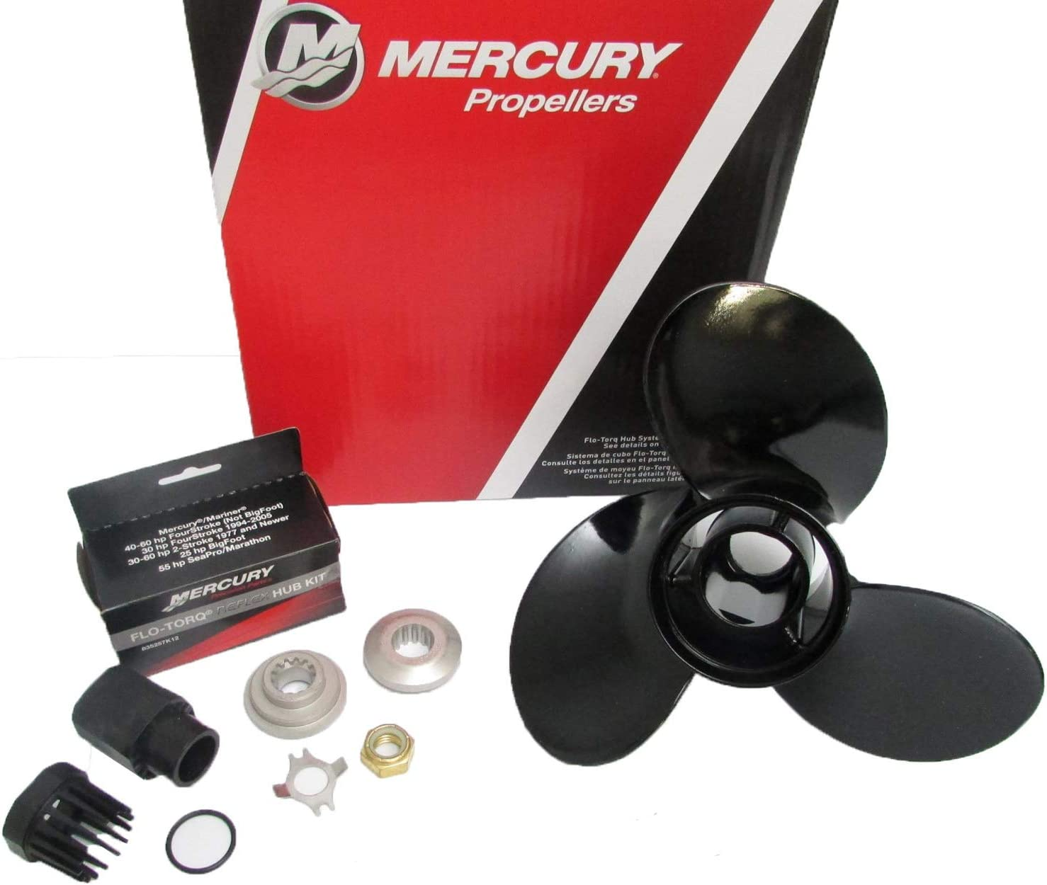 Mercury Marine Black Max 3-Blade Aluminum Propeller 10-1/2 x 13 Pitch