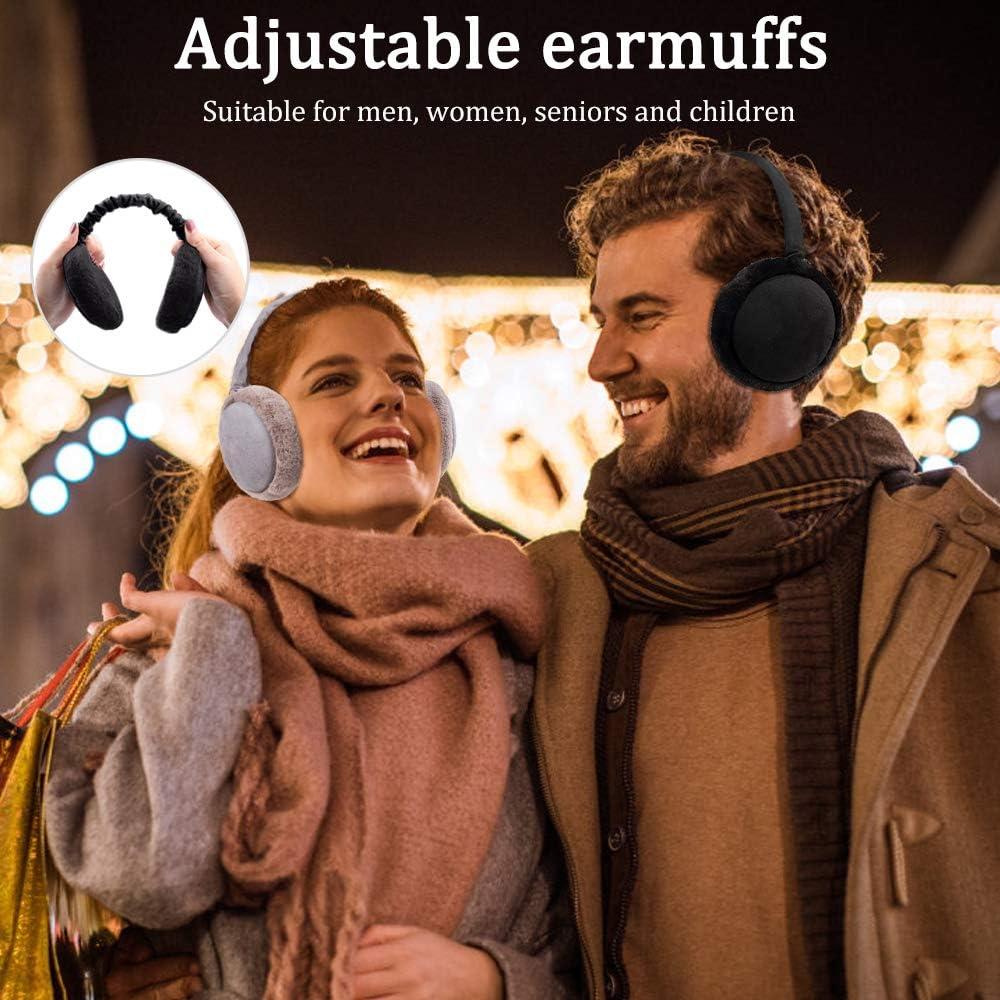 Orejeras synmixx felpa Orejeras Nvierno C/álido Ajustable Outdoor Earmuffs para Actividades y Deportes al Aire Libre Hombres Mujeres Ni/ños