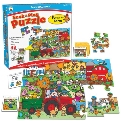Puzzle Play Center - Carson-Dellosa Publishing Fun at the Farm, Seek and Play Puzzle