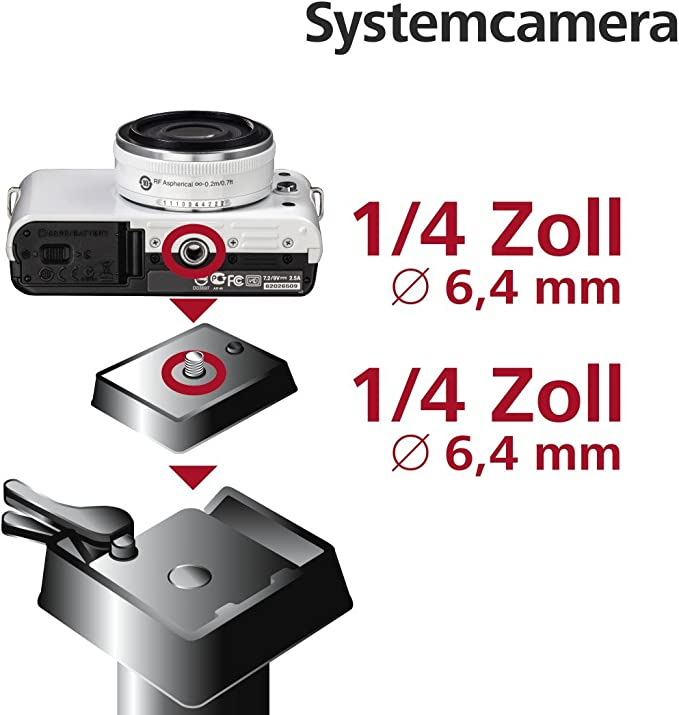 Hama Schnellkupplungsplatte Für Stativ Omega Premium I Ii Und Ii A 1 4 Gewinde Schwarz