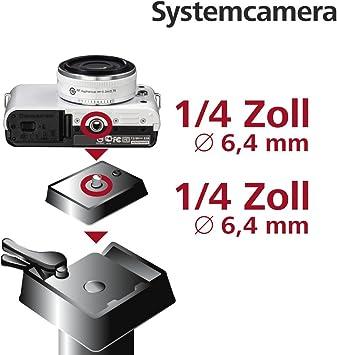 Hama Schnellkupplungsplatte Für Stativ Traveller 146 Premium Duo A 1 4 Gewinde Schwarz