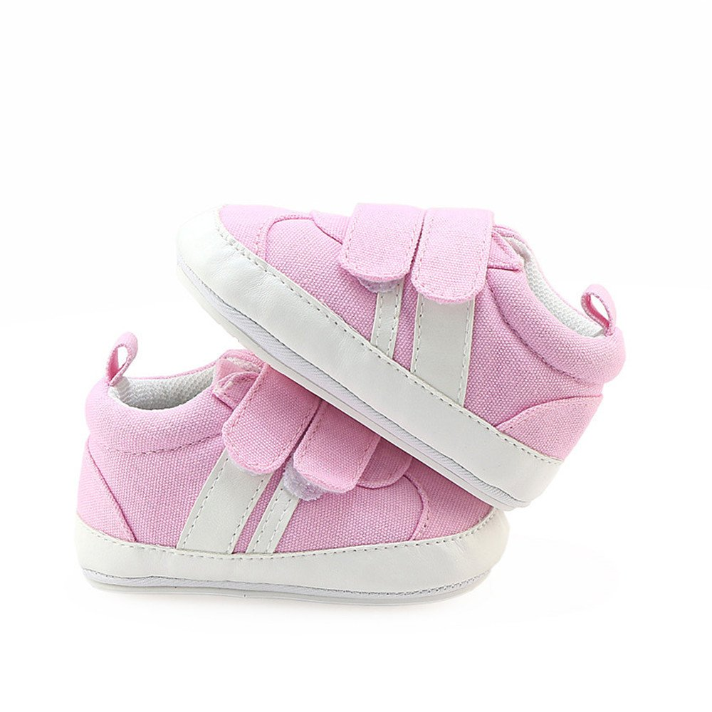 Isbasic Canvas Shoes Baby Boys Girls Toddler Non-Slip Rubber Sole Casual Infant Sneakers