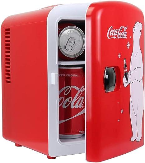Coca Cola Kwc4 Kwc 4 Refrigerador Portátil De 4 Litros 6 Latas Para Alimentos Bebidas Hogar Oficina Dormitorio Coche Barco Ca Cc Incluidos 4 2 Cuartos De Galón Rojo Blanco Kitchen Dining