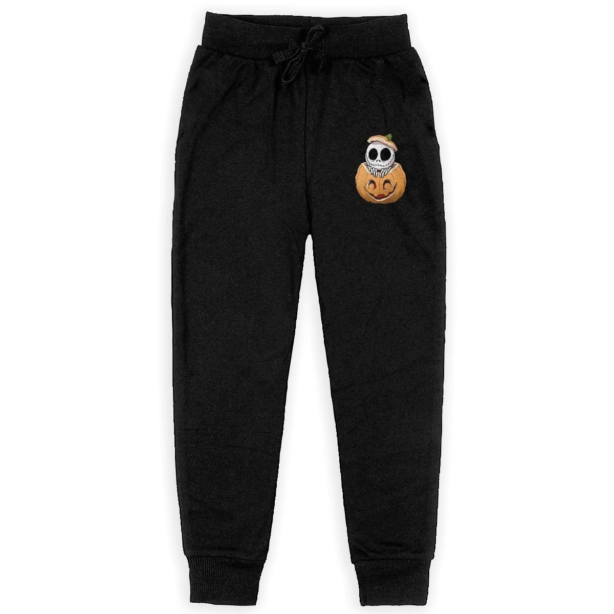Kim Mittelstaedt Pumpkin King Boys Big Active Basic Casual Pants Sweatpants for Boys Black