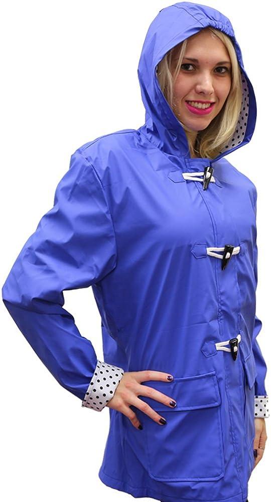 5 Womens Hooded Toggle Rain Coat Apparel No