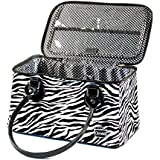 Caboodles Heartthrob It Bag Travel Case (Zebra Print)