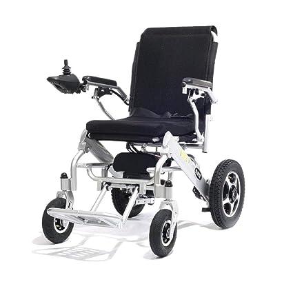 Silla De Ruedas Eléctrica Peso Ligero Plegable Automático Discapacitado Scooter Portátil Comodidad Ajustable Anciano (Puede