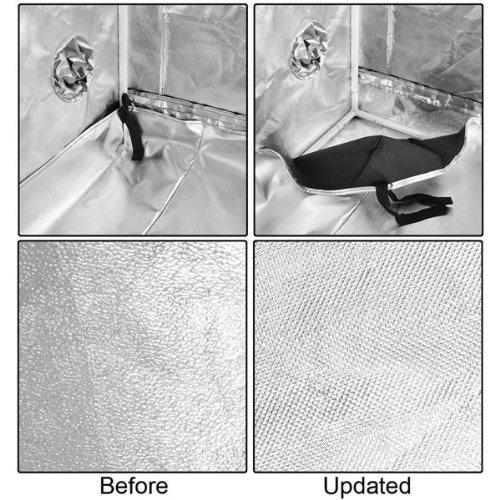 "61wQ3GKwVQL - Hydroponics Reflective Mylar Grow Tent 60""x60""x78"""