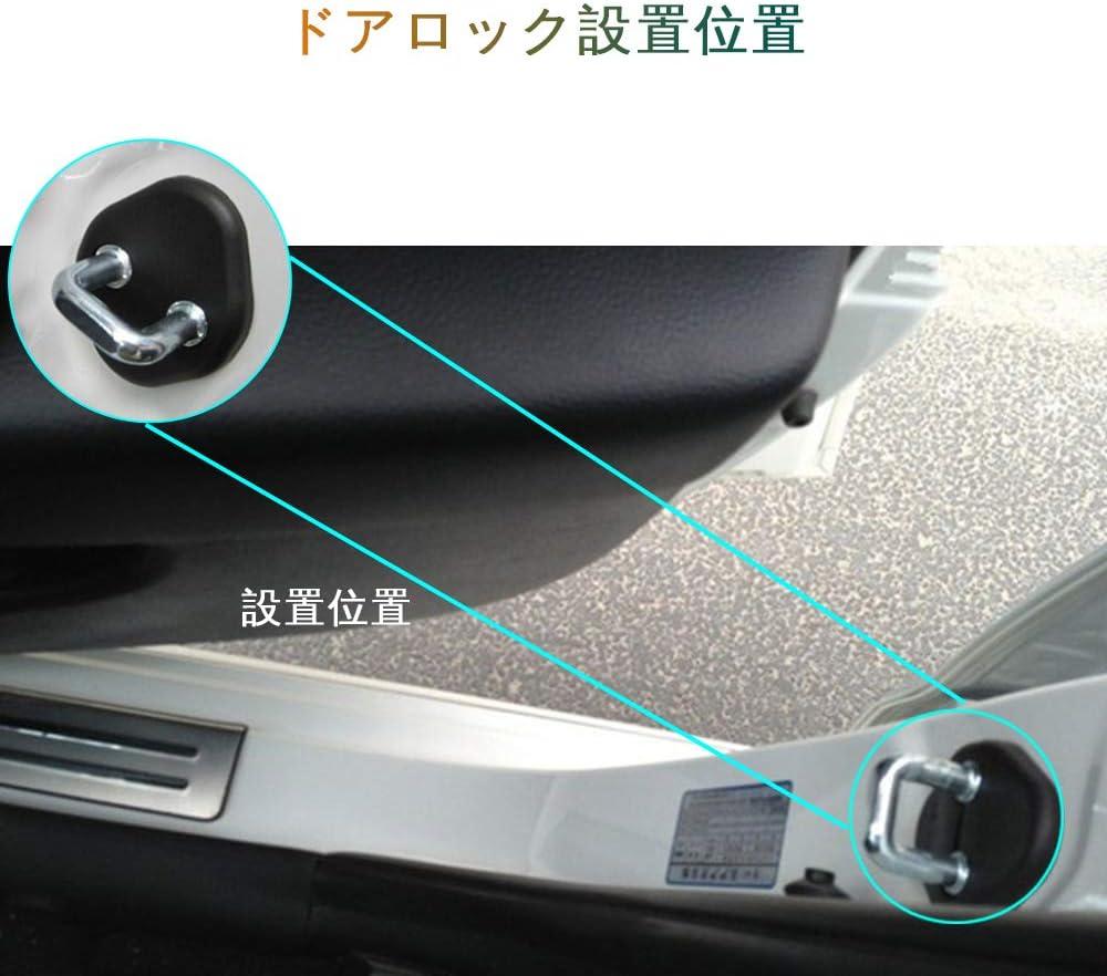 Longzhimei T/ürschloss Abdeckung f/ür K ia H yundai K2 Seoul Solaris etc Plastik T/ürschlossabdeckung 4 St/ück T/ürschloss Schutzh/ülle