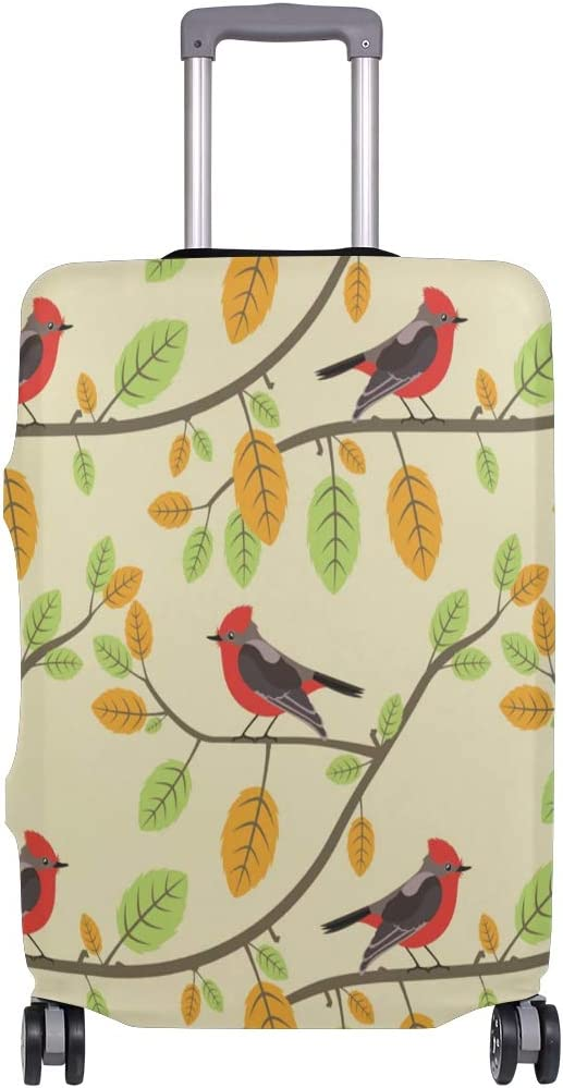 GIOVANIOR Red Cardinals Twigs Luggage Cover Suitcase Protector Carry On Covers