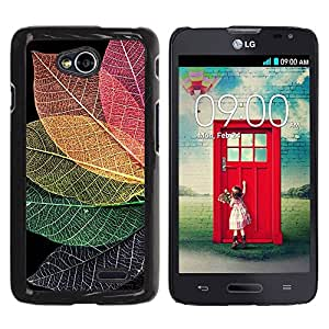 Paccase / SLIM PC / Aliminium Casa Carcasa Funda Case Cover - Fall Autumn Colorful Nature - LG Optimus L70 / LS620 / D325 / MS323