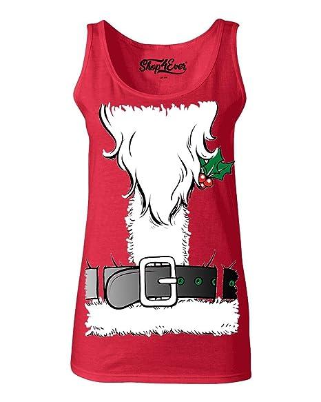 Funny Christmas Tank Tops.Shop4ever Christmas Santa Costume Women S Tank Top Funny Xmas Tank Tops