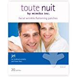 Toute Nuit Wrinkle Patches, Face Tape, Jet - Extra Large UNISEX Frown Lines Plus and Forehead - 20 Patches