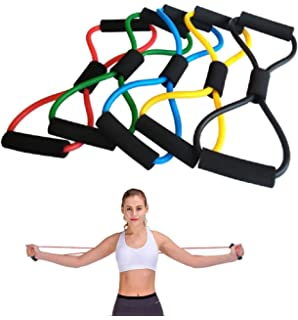 Amazon.com : EVANST 4-Tube Foot Pedal Resistance Band ...