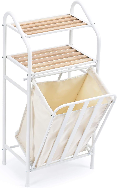 vidaXL Clasificador de lavander/ía con 4 Bolsas de Color Gris Negro