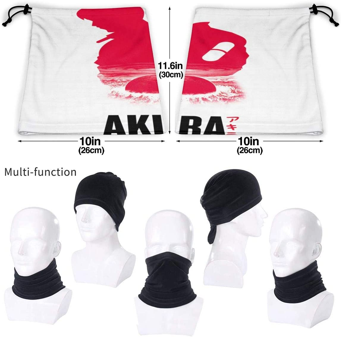 Akira Unisex Comfortable And Breathable Fashion Scarf Face Tube Neck Scarf Neck Warm Scarf