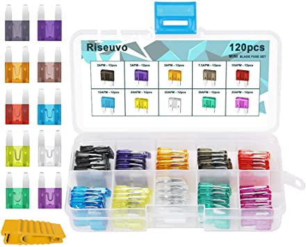 Car Blade Fuse Box Assortment Set Truck Rv Automotive Atm Apm Small Kit Gift