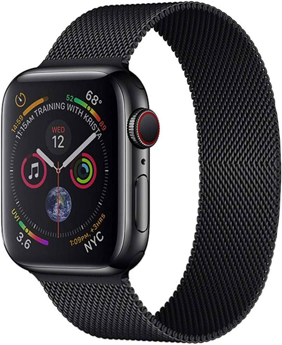 Stainless Steel Magnetic Absorption Strap for Apple Watch Metal Mesh Quick Release Wristband Sport Loop Compatible for Apple Watch Band 40mm/42mm Series 6/SE/5/4/3/2/1
