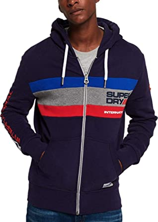sweat a capuche zippé sans manche superdry