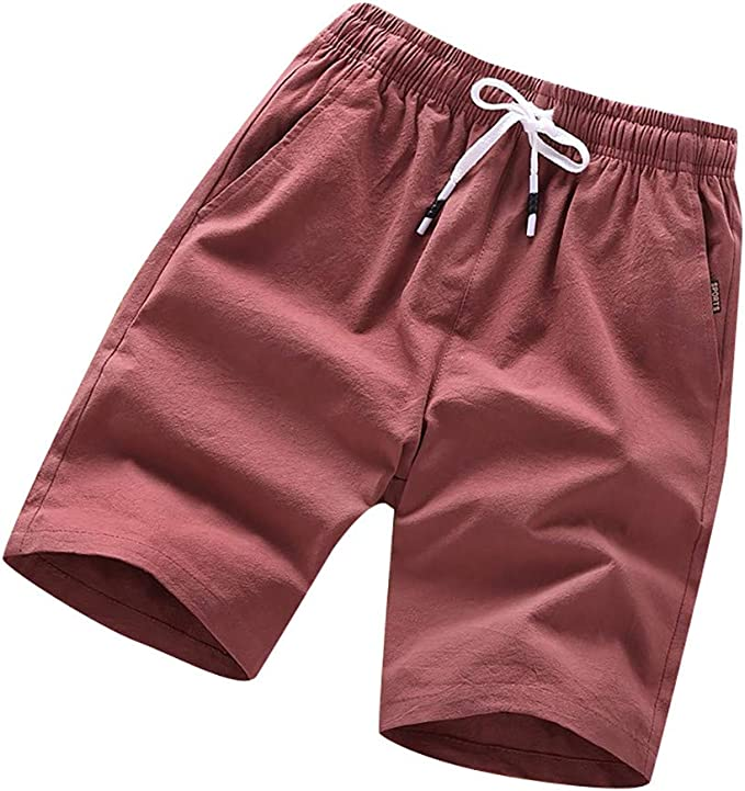 Summer Casual Athletic Sports Quick-Drying Loose Pocket Beach Thin Short Pants Trunks 5XL Mens Shorts Big /& Tall Plus Size