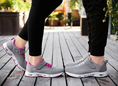 6cec519a1f3 Scennek Men s and Women s Middle-Aged Velcro Sneakers Multi-Sports Running  Fitness Shoes  Amazon.co.uk  Shoes   Bags