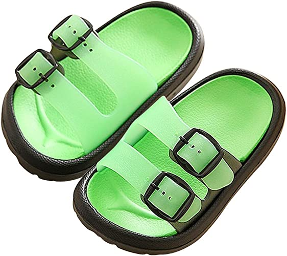 Color : Lightbrown , Size : 4 M US Big Kid Non-Slip Summer Shoes Kids Boys Open Toe Three Strap Walking Sandals Durable