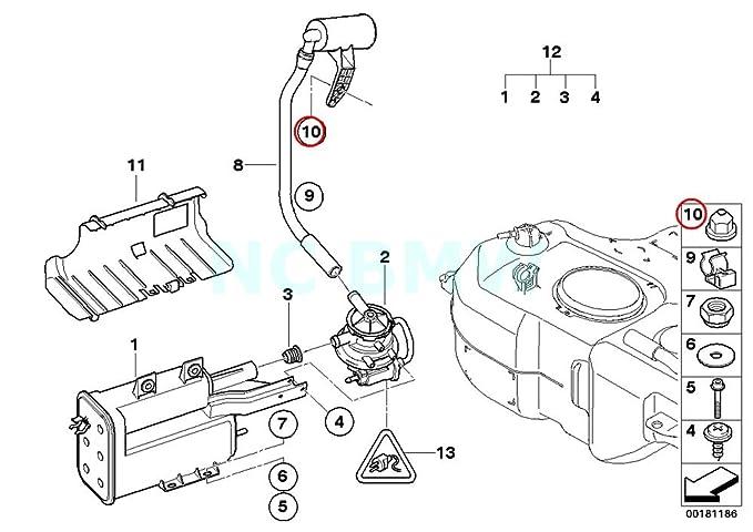 Amazon Com Bmw Genuine Plastic Nut For Coarse Threaded Pin Automotive
