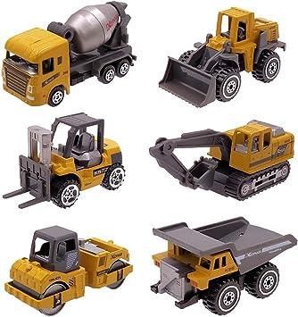 Dreamon Coches y Camión de Juguete , Pack de 6 Vehículos para ...