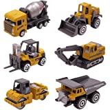 Kids Diecast Construction Vehicles Metal Engineering Cars Set Toys Play Trucks for Boys Age 2 3 4 Birthday Party Supplies Cak