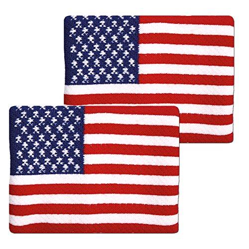 All American Wristbands - Unique Sports Flag Wristbands, American Flag sweatbands, USA