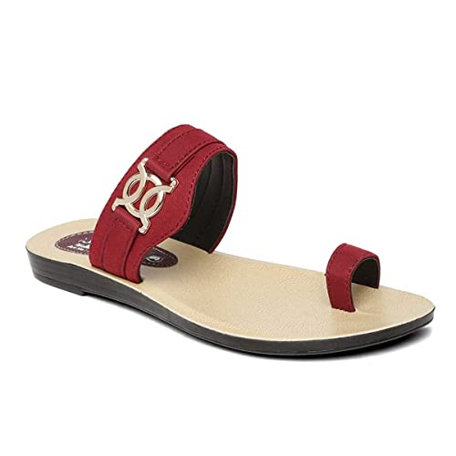 f562d01e4 PARAGON SOLEA Women s Maroon Flip-Flops  Buy Online at Low Prices in India  - Amazon.in