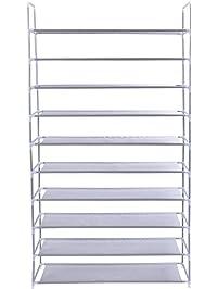 Tangkula 50 Pair 10 Tire Shoe Rack Shelf Home Storage Organizer Closet  Cabinet Portable