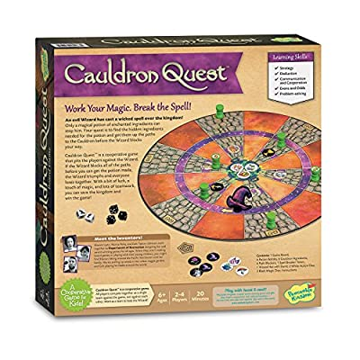 Peaceable Kingdom Cauldron Quest Cooperative Potions and Spells Game for Kids: Toys & Games