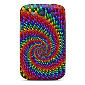 DavidLPenton Case Cover For Galaxy S3 - Retailer Packaging Swirling To The Center Protective Case