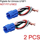NO for U16C2, 16mm Pigtail, Wire Connector, Socket Plug Only for U16F1/U16F2 Pushbutton Switch (Pack of 2)