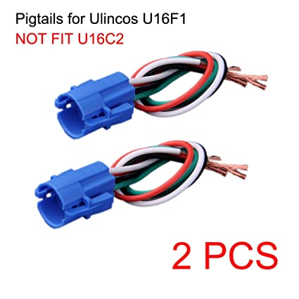 amazon com: ulincos not fit u16c2, 16mm pigtail, wire connector, socket  plug only for u16f1/u16f2 /u16f5 pushbutton switch (pack of 2): automotive
