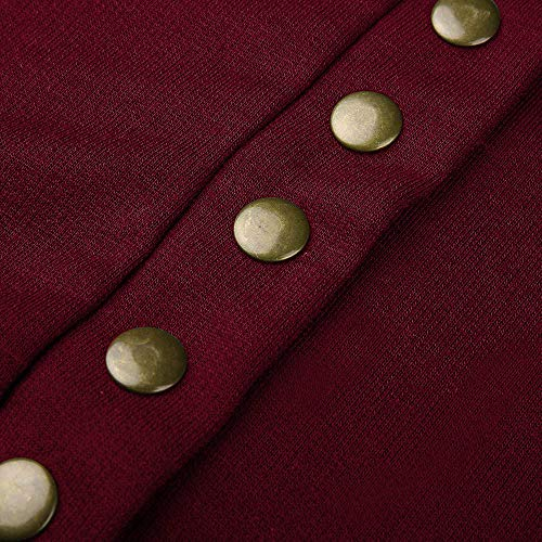 Femme Chic Bouton Ouvert Pull Sweater Cardigan Vin Hiver Devant de Tonsi wqZtdOd