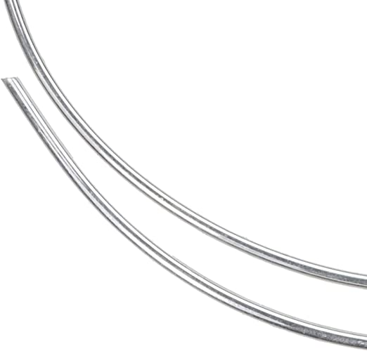 uGems 12 Gauge Round Sterling Silver Wire Soft 1 Feet 6 Inches
