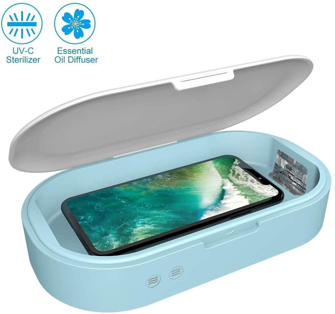 Kills Up to 99.9/% of Bacteria /& Viruses at The DNA Level Multifunctional UV sterilizer Smart Phone Sanitizer Portable Smart Phone Sterilizer