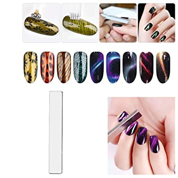 Nails Art & Tools 2pcs 3d Magnetic Magic Gel Uv Led Polish Professional Cat Eye Magnet Stick Gel Polish 3d Varnish All For Manicure Nail Design