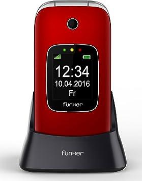 Funker C85 - Teléfono Móvil Easy Comfort Rojo con Tapa Para ...