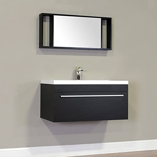 Alya Bath AT-8090-B Ripley Bathroom Vanity, 36, Black