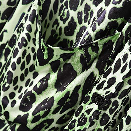 Armato Di Tuta Stampa Tasto Casuale Tops Sportiva Cappotto Soprabito Verde Sexy Manicotto Di Carro Leopardo Del Modo Maglietta Della Hooudo Lungo Camicetta gwqSFfFE