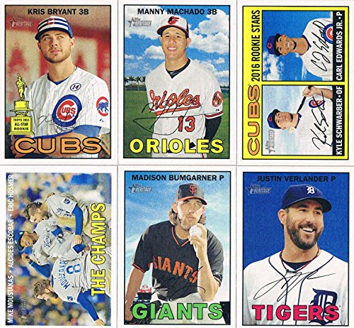 2016 Topps Heritage MLB Baseball Complete Mint Basic 425 Card Hand Collated Set Based Upon the Classic 1967 Topps Design