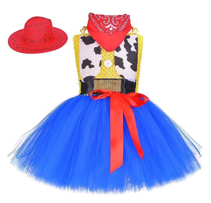 Amazon.com: Vestido de tutú de vaquera Woody, disfraz de ...