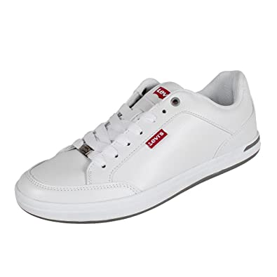 63d23db1f02c2 Levi s AART Core PU, Baskets Hommes, Blanc (Noir Regular White 51),