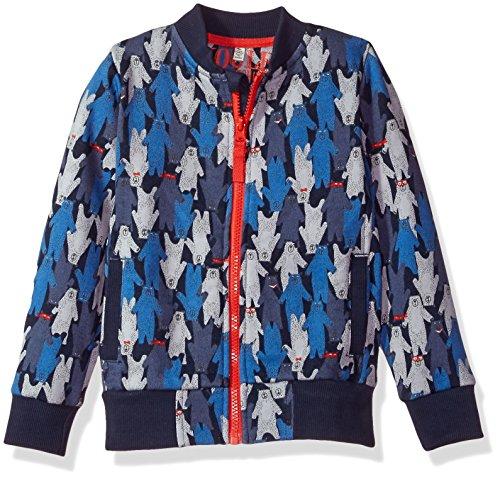 Joules Toddler Boys' Brock Bomber Jacket, Multi Bear Camo, - Jacket Kids Flight Camouflage